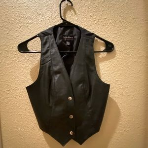 Wilson's Leather Black Western Vest